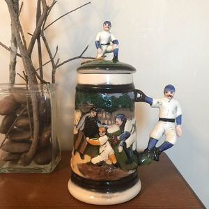 Baseball lidded Stein